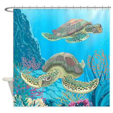 Sea Turtle Shower Curtain By BestShowerCurtains