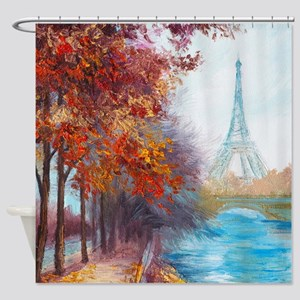 Paris Painting Shower Curtain