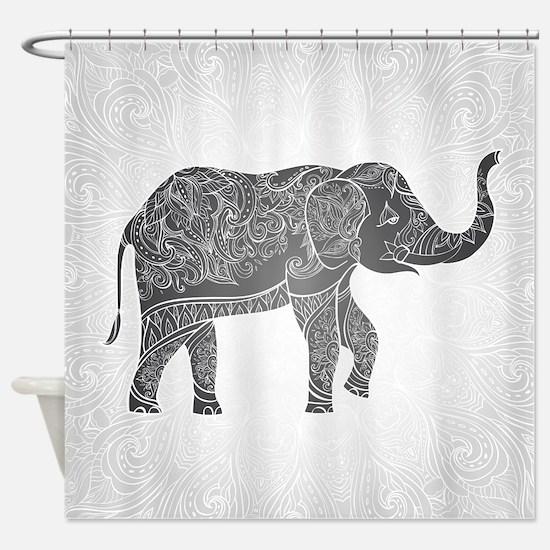 Indian Elephant Shower Curtain