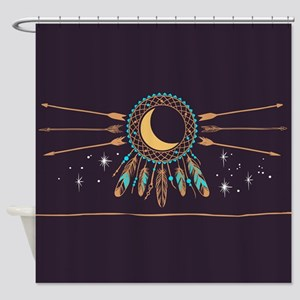 Dreamcatcher Moon Shower Curtain