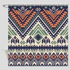 Native Pattern Shower Curtain
