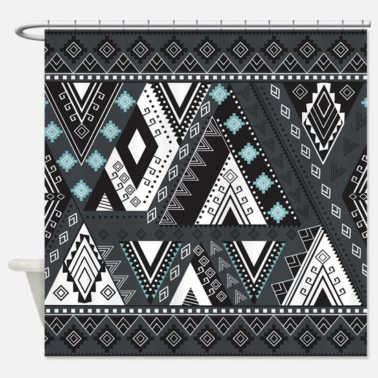 Native Pattern Shower Curtain