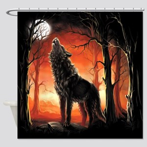 Howling Wolf Shower Curtain