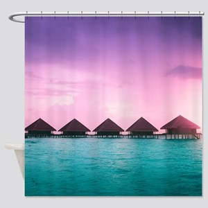 Ocean Bungalows Shower Curtain