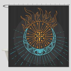 Sun And Moon Shower Curtain