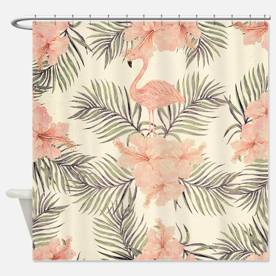 Vintage Flamingo Shower Curtain
