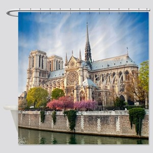 Notre Dame Cathedral Shower Curtain