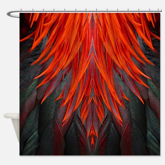 Abstract Feathers Shower Curtain
