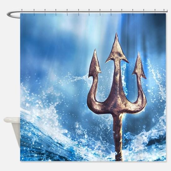 Poseidons Trident Shower Curtain