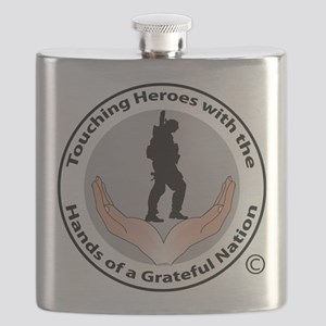 The Hands of a Grateful Nation Flask