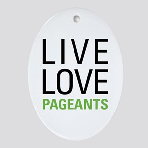 Pageants Ornament (Oval)