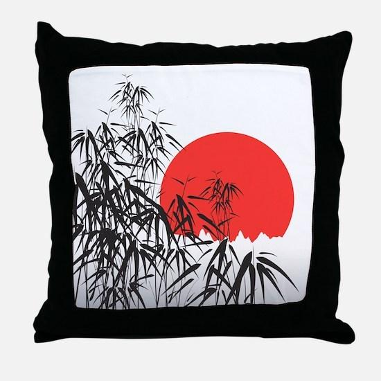 Asian Sunset Throw Pillow