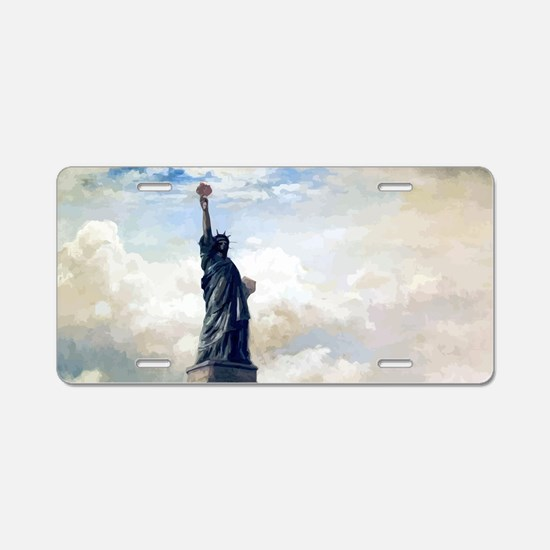 Statue of Liberty Unveiling Aluminum License Plate
