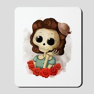 Vintage Skeleton Girl Mousepad