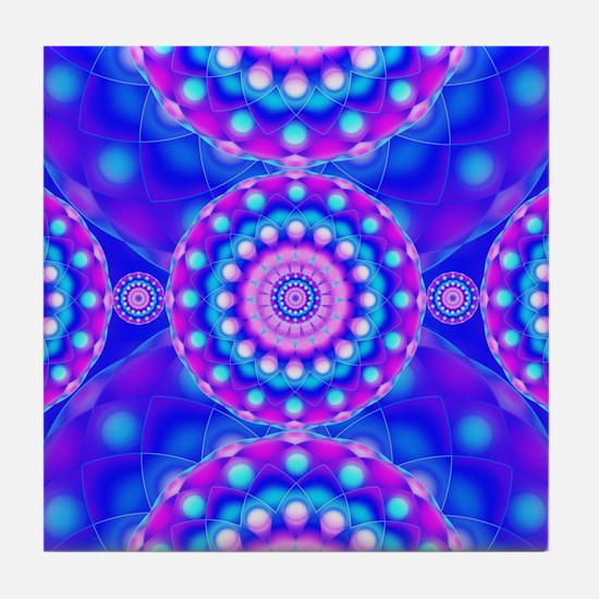 Tribal Mandala 4 Tile Coaster