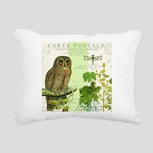 modern vintage french woodland owl Rectangular Can