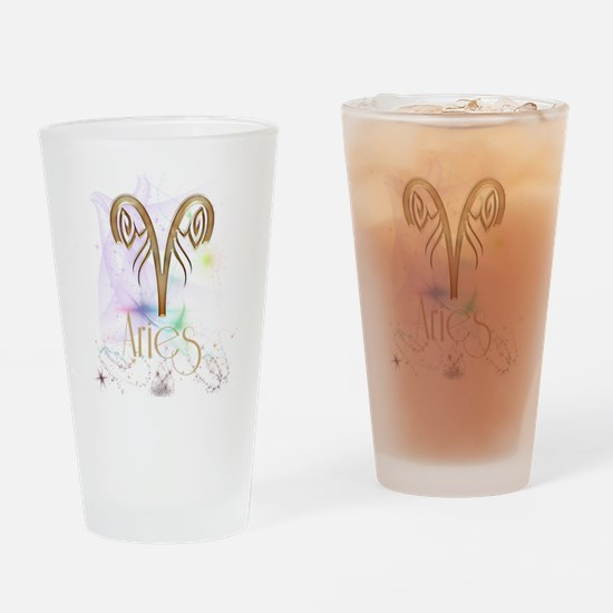 Aries Zodiac Sign Drinking Glass