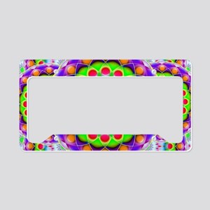 Tribal Mandala 5 License Plate Holder