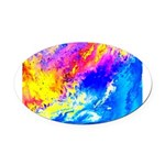 Beautiful weather Oval Car Magnet