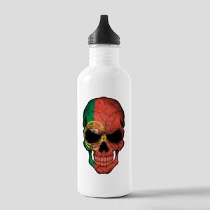Portuguese Flag Skull Stainless Water Bottle 1.0l