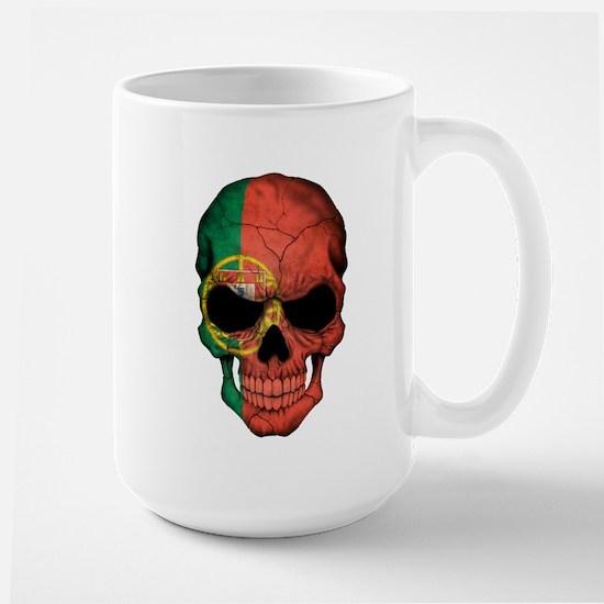 Portuguese Flag Skull Mugs