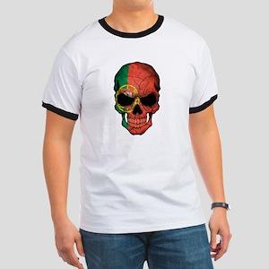 Portuguese Flag Skull T-Shirt