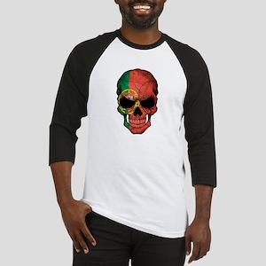 Portuguese Flag Skull Baseball Jersey