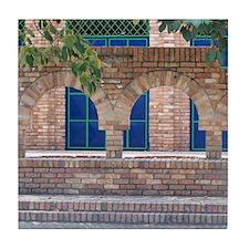Brick with Blue Tile Tile Coaster