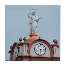Angel on Church Tower Tile Coaster