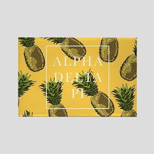 Alpha Delta Pi Pineapples Rectangle Magnet