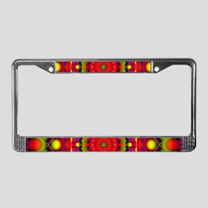 Tribal Mandala 6 License Plate Frame
