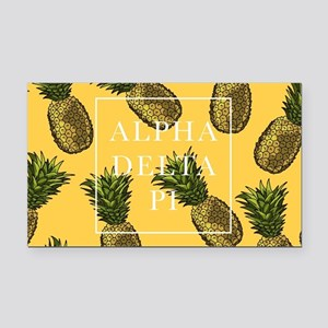 Alpha Delta Pi Pineapples Rectangle Car Magnet