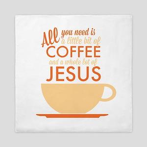 Coffee & Jesus Queen Duvet