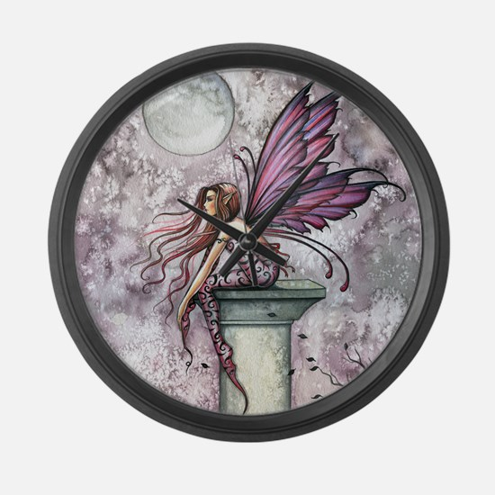 The Lookout Fairy Fantasy Art Large Wall Clock