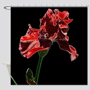 Artistic Red Iris Shower Curtain