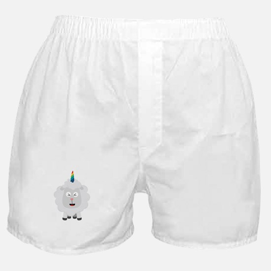 Unicorn Sheep with rainbow Cffz8 Boxer Shorts