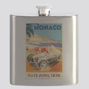 Antique 1936 Monaco Grand Prix Auto Race Poster Fl