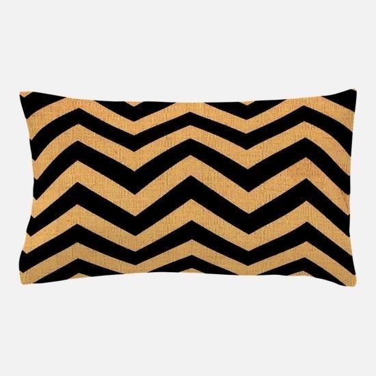 Black burlap zigzags Pillow Case
