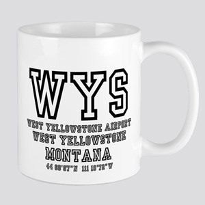 AIRPORT CODES - WYS - WEST YELLOWSTONE, MONTA Mugs