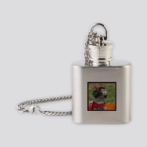 Halloween Shih Tzu Flask Necklace