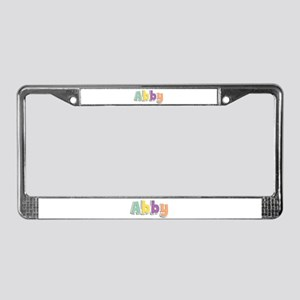 Abby Spring14 License Plate Frame