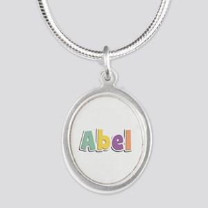Abel Spring14 Silver Oval Necklace