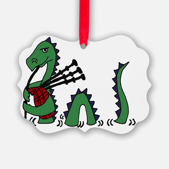 LochNess Monster Bagpipes Ornament
