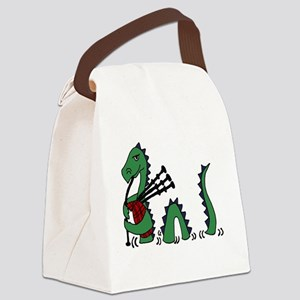 LochNess Monster Bagpipes Canvas Lunch Bag