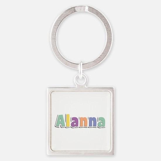 Alanna Spring14 Square Keychain
