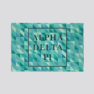 Alpha Delta Pi Geometric Rectangle Magnet
