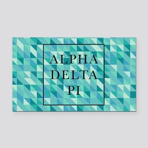 Alpha Delta Pi Geometric Rectangle Car Magnet