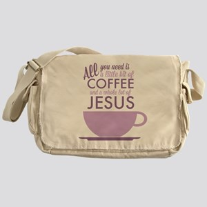 Coffee & Jesus Messenger Bag