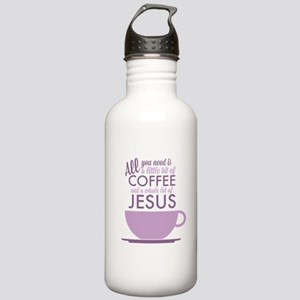 Coffee & Jesus Stainless Water Bottle 1.0L