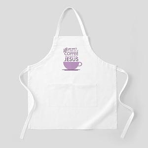 Coffee & Jesus Apron